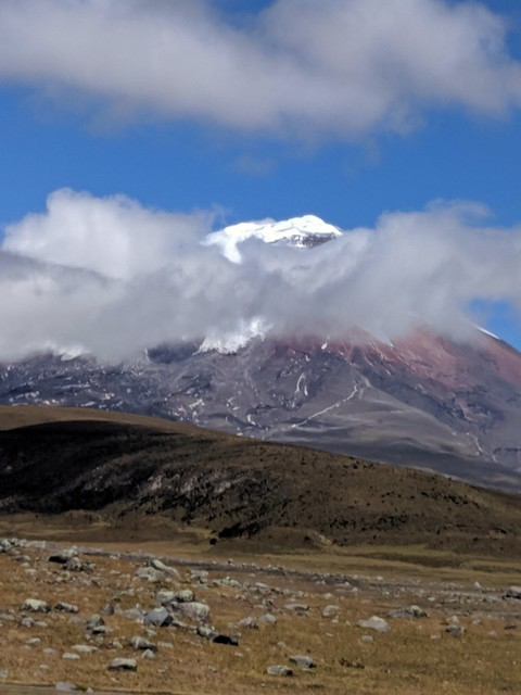 cotopaxi volcano with snow on top