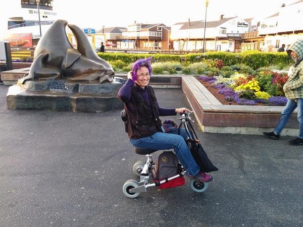Liz travelscoot pier39