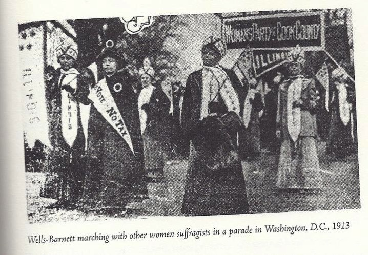 Ida Wells at 1913 march in sash