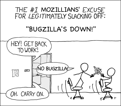 No bugzilla cartoon