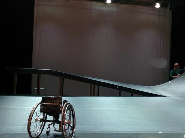 Ramp wheelchair dance