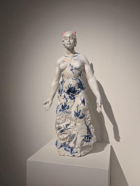 mulan ceramic sculpture