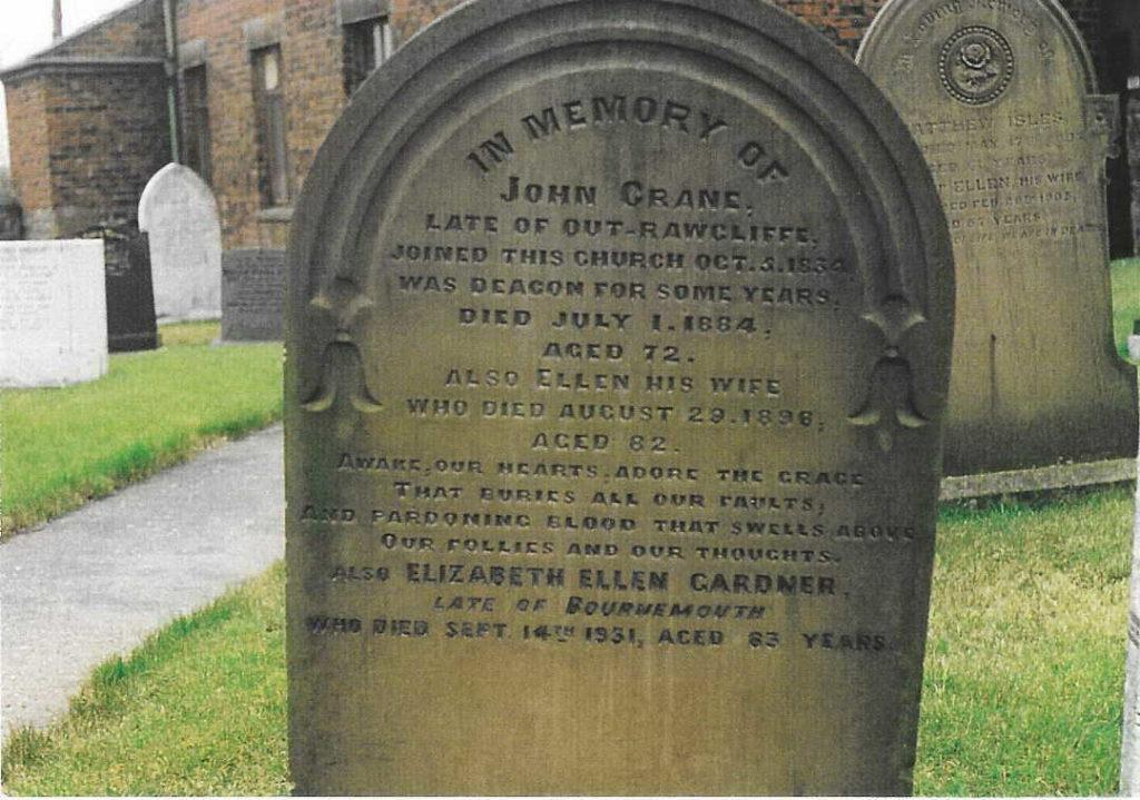 gravestone for john crane