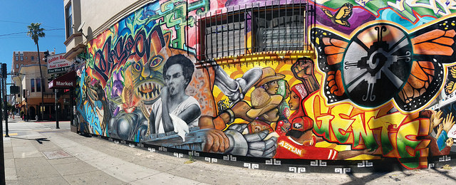 colorful mural at 26th and mission