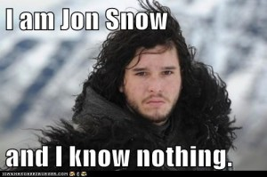 jon snow know nothing