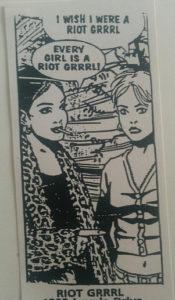 riot grrrl sticker