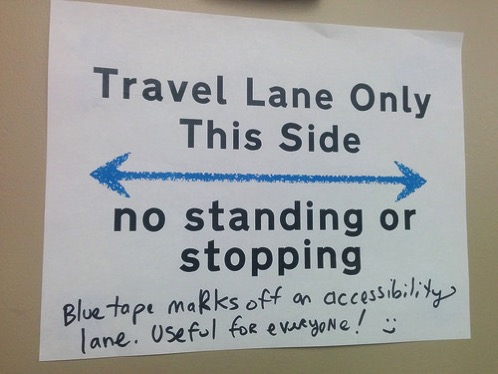 Travel lane